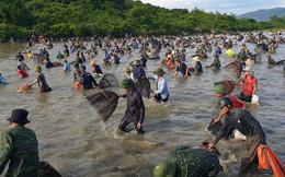 Người dân nô nức lao xuống nước đánh bắt cá trong lễ hội độc đáo có từ 300 năm