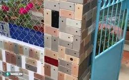 Cộng đồng mạng Trung Quốc thán phục độ 'chịu chơi' của người Việt dùng vỏ iPhone lát tường