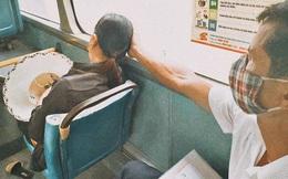 """""""Ông cút, tránh xa tôi ra"""", lời hậm hực của người phụ nữ trên xe buýt, hành động của ông chú đi cùng mới bất ngờ"""