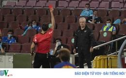 Huấn luyện viên của Leganes nhận thẻ đỏ vì lý do khó đỡ