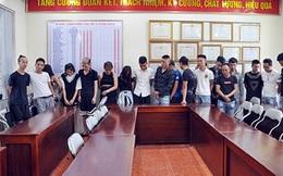 Hơn 20 đối tượng nghi vấn sử dụng trái phép chất ma túy bị bắt giữ