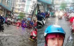 """Xe chết máy vì mưa lụt """"sấp mặt"""", thanh niên bất ngờ được 2 người đàn ông lạ giúp về tận nhà"""