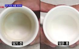 """Tẩy vết ố trên cốc sứ trong chớp mắt cực hiệu quả với 3 nguyên liệu """"cho không"""""""