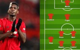 Đội hình dự kiến MU vs Tottenham: Pogba được trao vị trí số 10