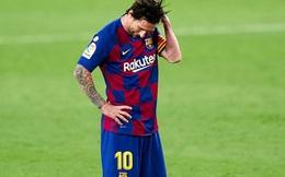 """Messi may mắn thoát thẻ đỏ sau hành động nổi cáu """"thừa tay chân"""" với đối thủ, Barcelona vẫn nhận kết quả không như ý"""