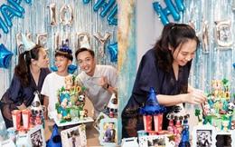 Cường đô la đăng ảnh sinh nhật con trai, nhưng chiếc bụng lớn của Đàm Thu Trang gây chú ý