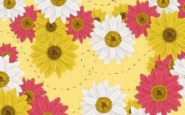 Thách thức thị giác: Tìm kiếm con ong nhỏ xíu trong đám hoa rực rỡ sắc màu