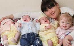 Hy hữu: Bà mẹ sinh liền 4 đứa con chỉ trong vòng 11 tháng