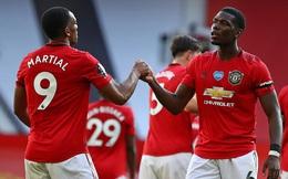 "Pogba lột xác, Martial lập hat-trick, Man United đè bẹp ""vua lì đòn"" Premier League"