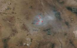 Bức ảnh chụp khói cháy rừng ở Mỹ dài 100km nhìn từ không gian của NASA gây sốc