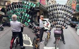 Ông lão nổi tiếng nhờ chơi Pokémon Go trên xe đạp vừa nâng cấp lên dàn 64 chiếc smartphone