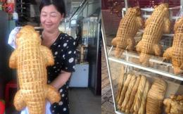 """Xuất hiện lò sản xuất bánh mì cá sấu """"Lacoste"""" ở miền Tây, dân mạng lại tranh cãi ỏm tỏi: Là con thạch sùng đại bự mà?"""