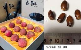 Hết ngạc nhiên vì siêu thị tại Nhật Bản bán 120.000 đồng được 7 quả vải, dân tình lại nhốn nháo khi biết shop online Nhật rao bán cả hạt vải với giá cao