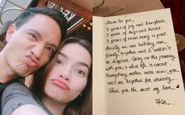 """Hồ Ngọc Hà """"bóc mẽ"""" thiệp tình yêu mùi mẫn của Kim Lý viết nhân dịp 3 năm yêu nhau"""