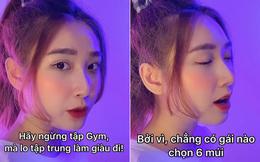 """Thanh Mèo (bạn gái cũ của Bùi Tiến Dũng) chính thức lên tiếng về clip """"ngừng tập gym lo làm giàu"""" khiến cộng đồng thể hình bức xúc: Mắc bẫy vì câu quote bị làm giả?"""