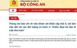 Cơ quan An ninh điều tra khám xét khẩn cấp với 3 đối tượng ở Hà Nội chiếm đoạt tài liệu bí mật Nhà nước