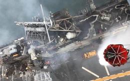 Hình ảnh đầu tiên, kinh hoàng nhất của tàu đổ bộ tấn công USS Bonhomme Richard sau vụ cháy