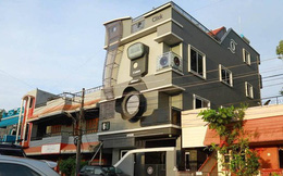 Bác phó nháy sống trong biệt thự hình máy ảnh cùng 3 người con Canon, Nikon và Epson