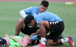 Hai đồng đội của Quang Hải va chạm đổ máu, Hà Nội FC phải kết thúc sớm buổi tập