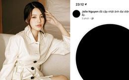 Jolie Nguyễn bất ngờ đổi avatar đen cùng story gây hoang mang giữa đêm