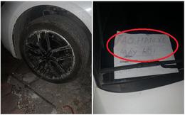 """Đỗ ô tô gần chợ rồi rời đi, lúc quay về tài xế """"tím mặt"""" vì mảnh giấy nhắn và tình trạng của lốp xe"""
