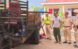 Công an nổ súng bắt tài xế chở gỗ lậu