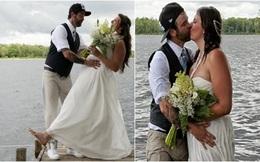 """Chụp ảnh cưới theo phong cách """"bước nhảy hoàn vũ"""", cô dâu chú rể gặp """"thảm họa"""" không ai ngờ"""