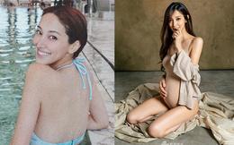 Hoa hậu Hong Kong khiến con trai vua sòng bài Macau say đắm ngày càng gợi cảm khi mang bầu