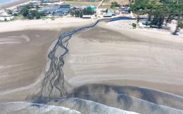 Toàn cảnh trang trại tôm xả dòng nước thải đen kịt, hôi thối ra biển ở Nghệ An
