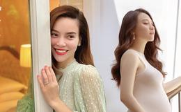 """Sự khác biệt giữa Hồ Ngọc Hà và Đàm Thu Trang khi mang thai: Người công khai khoe bụng bầu viên mãn, người lại khép nép che chắn chờ """"ngày đẹp"""""""