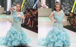 Mẫu nhí Trần Quách Thiên Kim mặc đầm công chúa, tự tin catwalk