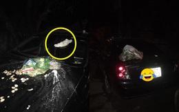 Đỗ xe chắn bãi rác đến khi quay lại, tài xế ô tô hốt hoảng với thứ nhầy nhụa trên nắp ca - pô