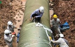 Đường ống nước sạch sông Đà lại xảy ra sự cố đoạn qua Đại lộ Thăng Long