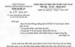 Nghệ An yêu cầu những người đã đến Đà Nẵng trong 14 ngày qua khai báo y tế