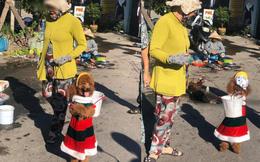 Chú chó nhỏ theo chủ ra chợ, thế nhưng chính chi tiết này lại khiến cộng đồng mạng bức xúc, tố chủ nhân ngược đãi động vật