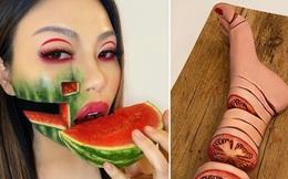 Bỏ nghề gõ đầu trẻ sang làm chuyên gia makeup, cô gái gây sốt MXH với những tác phẩm body-painting cực dị