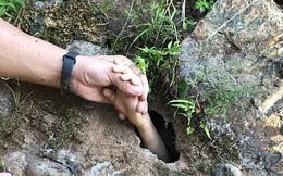 TQ: Bé trai bơi trên sông bỗng biến mất, người nhà sốc thấy bàn tay thò lên từ dưới đất