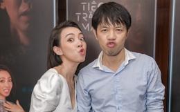 Vắng ông xã, Thu Trang vui vẻ tình tứ cùng Thái Hòa trong sự kiện