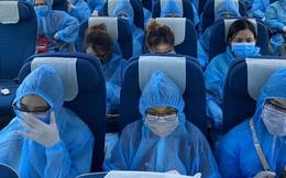 Chuyến bay đưa 129 bệnh nhân Covid-19 từ Guinea Xích Đạo đã về tới Nội Bài