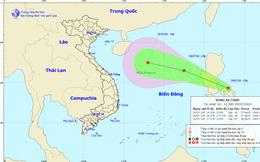 Vùng áp thấp đang di chuyển về phía Biển Đông