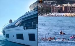 Các fan hâm mộ phát sốt, không ngừng hò reo khi phát hiện ra gia đình Ronaldo trên chiếc siêu du thuyền sang chảnh