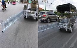 Xe ba gác chở món hàng nguy hiểm trên phố khiến bao người kinh hãi, không ai dám đi gần