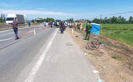 Truy tìm người đi xe máy đâm người đi xe đạp văng xuống ruộng tử vong