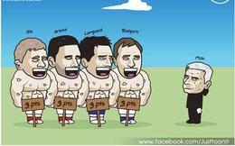 Biếm họa 24h: Mourinho cay đắng nhìn Solskjaer khoe cơ bụng 6 múi