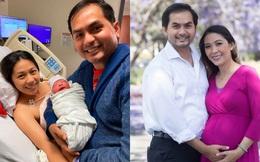 Sau 10 năm hiếm muộn, người mẫu Đức Tiến và hoa hậu Bình Phương sinh con đầu lòng