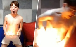 YouTuber tự đốt đũng quần mình dẫn đến bỏng nặng ngay giữa livestream, người hâm mộ bức xúc khi hiểu ra nguyên nhân
