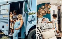 Chùm ảnh: Đôi vợ chồng trẻ biến xe bus thành ngôi nhà di động đẹp như trong cổ tích làm nức lòng người yêu xê dịch