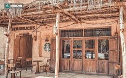 Cửa hàng Starbucks tại xứ siêu giàu gây bất ngờ với mái lá, tường nứt cũ kỹ như nhà đất Việt Nam