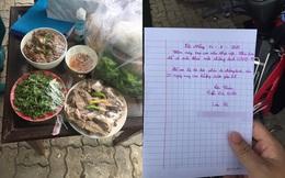 Đĩa vịt của cậu bé lớp 3 gửi cán bộ trực ở khu cách ly, lá thư đính kèm khiến người đọc cảm động