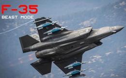 Hé lộ hình ảnh tiêm kích F-35A vận hành 'chế độ quái thú'